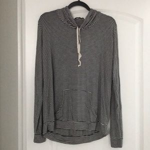 Brandy Melville Black and White Stripe Hoodie